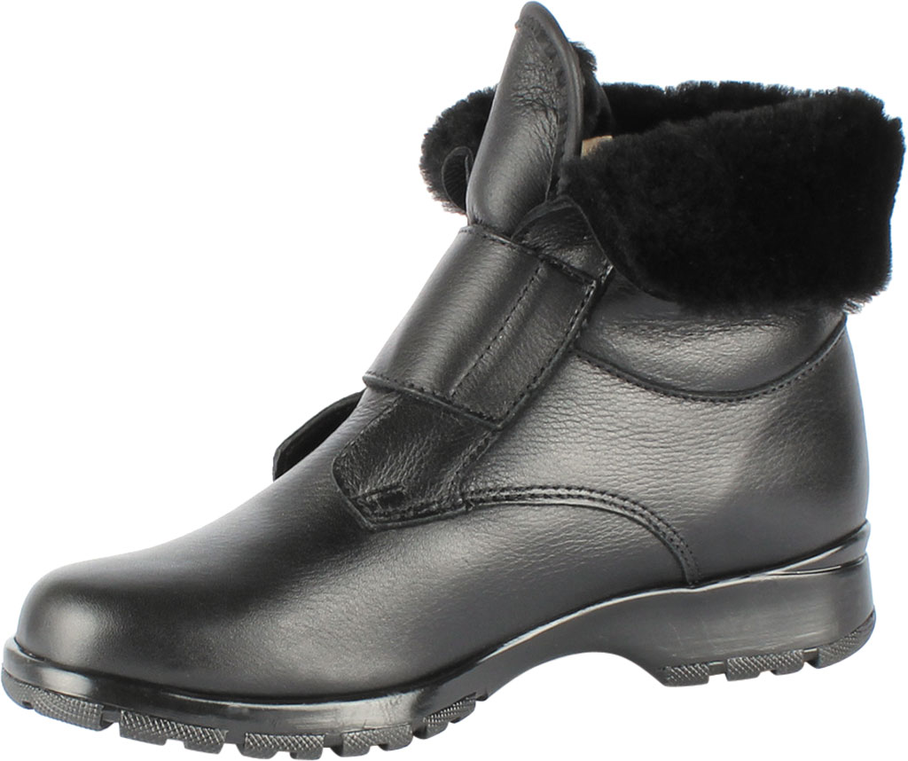 Women's Toe Warmers Michigan 2 Waterproof Ankle Boot, Black Leather, large, image 2