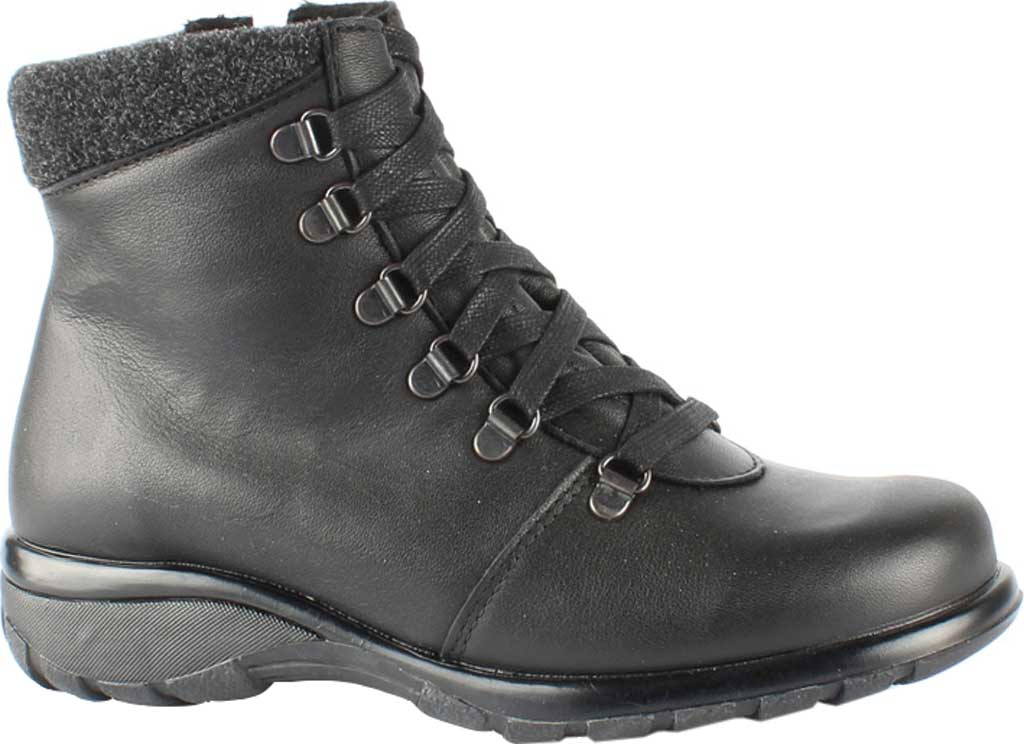 Women's Toe Warmers Yukon Waterproof Ankle Boot, Black Leather, large, image 1