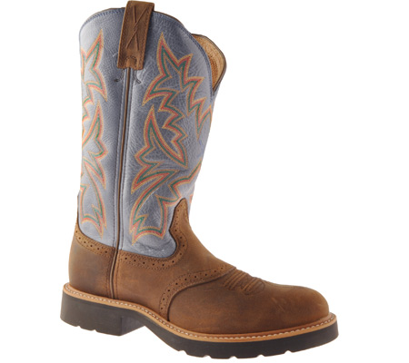 Men's Twisted X MCW0002, Distressed Saddle/Denim Leather, large, image 1