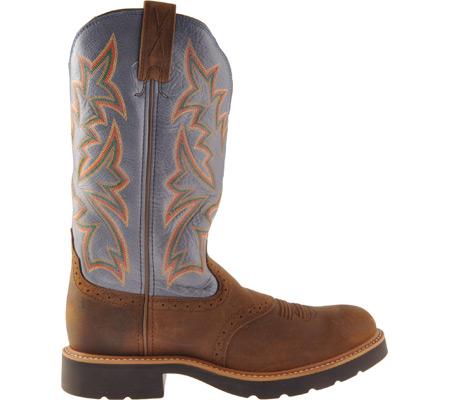 Men's Twisted X MCW0002, Distressed Saddle/Denim Leather, large, image 2