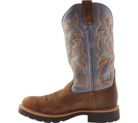 Men's Twisted X MCW0002, Distressed Saddle/Denim Leather, large, image 3