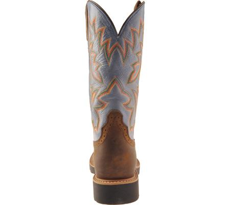 Men's Twisted X MCW0002, Distressed Saddle/Denim Leather, large, image 4