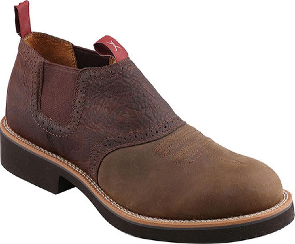 Men's Twisted X MCD0002, Distressed Saddle/Chocolate Oiled Shoulder Leather, large, image 1