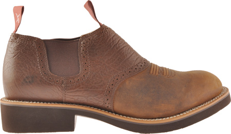 Men's Twisted X MCD0002, Distressed Saddle/Chocolate Oiled Shoulder Leather, large, image 2