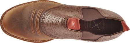Men's Twisted X MCD0002, Distressed Saddle/Chocolate Oiled Shoulder Leather, large, image 6