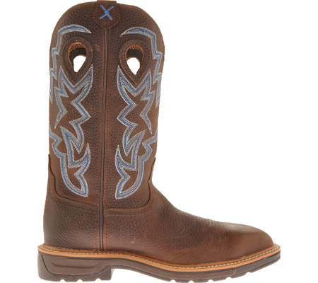 Men's Twisted X MLCS003 Lite Weight Steel Toe Cowboy Work, Brown Pebble/Brown Pebble Leather, large, image 2