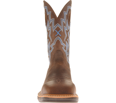 Men's Twisted X MLCS003 Lite Weight Steel Toe Cowboy Work, Brown Pebble/Brown Pebble Leather, large, image 4