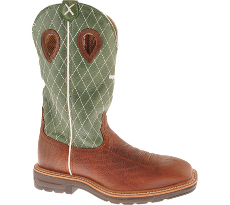Men's Twisted X MLCW002, Cognac Glazed Pebble/Lime Leather, large, image 1
