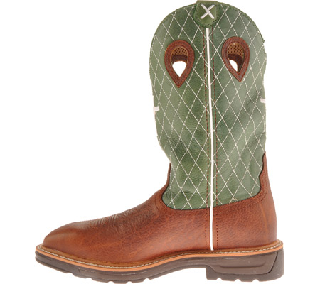 Men's Twisted X MLCW002, Cognac Glazed Pebble/Lime Leather, large, image 3