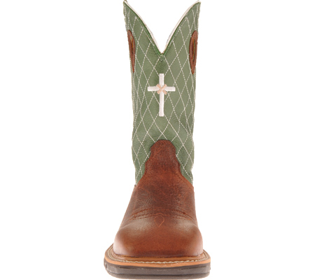 Men's Twisted X MLCW002, Cognac Glazed Pebble/Lime Leather, large, image 4