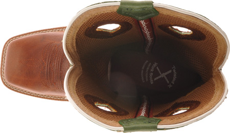 Men's Twisted X MLCW002, Cognac Glazed Pebble/Lime Leather, large, image 6
