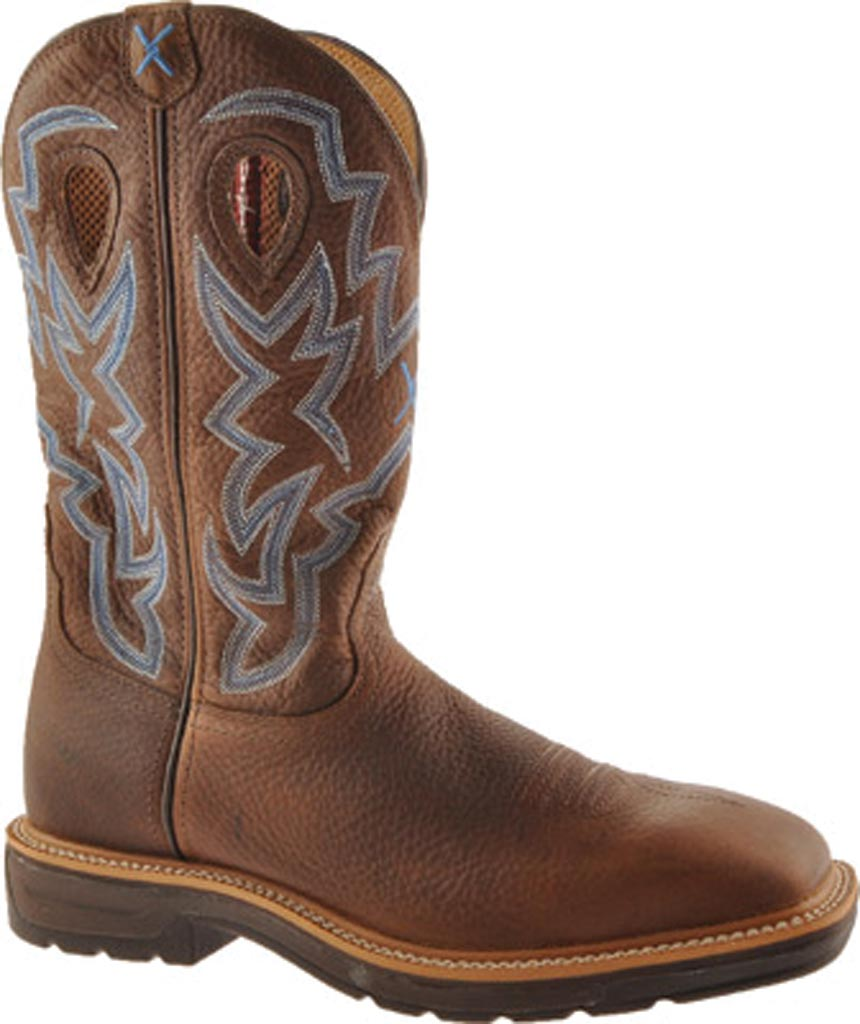 Men's Twisted X MLCW003, Brown Pebble/Brown Pebble Leather, large, image 1