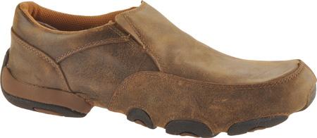 Men's Twisted X MDMS001 Leather Slip-On Driving Moc, Bomber, large, image 1
