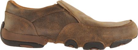 Men's Twisted X MDMS001 Leather Slip-On Driving Moc, Bomber, large, image 2