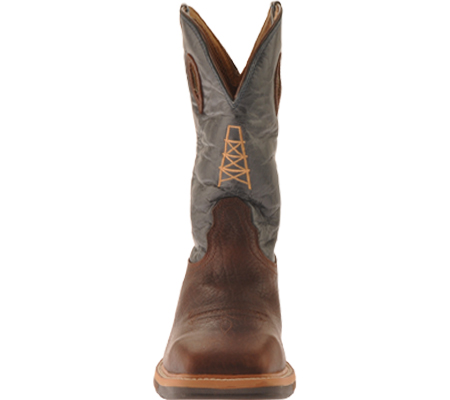 Men's Twisted X MLCS006 Lite Weight Work Boot Safety Toe, Oiled Cognac/Blue Leather, large, image 4