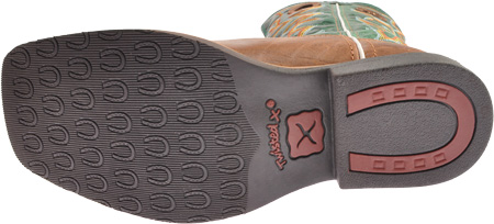 Children's Twisted X YBK0005, Cognac/Turquoise Leather, large, image 7