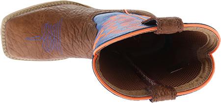 Children's Twisted X YHY0001 Cowkid's Hooey, Cognac Bullhide/Neon Blue, large, image 5