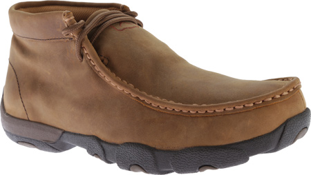 Men's Twisted X MDMW001 Driving Moc, Distressed Saddle, large, image 1