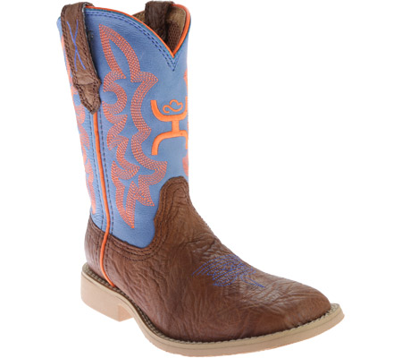 Children's Twisted X CHY0001 Cowkid's Hooey, Cognac Bullhide/Neon Blue, large, image 1