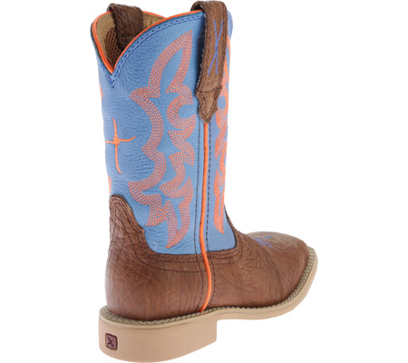 Children's Twisted X CHY0001 Cowkid's Hooey, Cognac Bullhide/Neon Blue, large, image 4