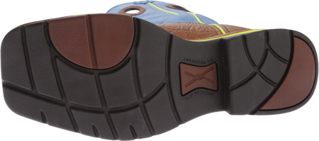 Men's Twisted X MLCS012 Lite Weight Cowboy Work, Brown Oiled Shoulder/Neon Blue, large, image 6