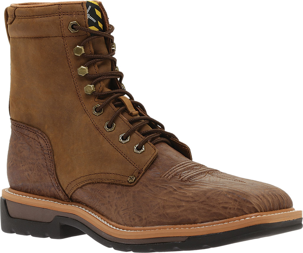Men's Twisted X MLCSL01 Lite Weight Steel Toe Lace Up Work, Distressed Shoulder/Distressed Leather, large, image 1