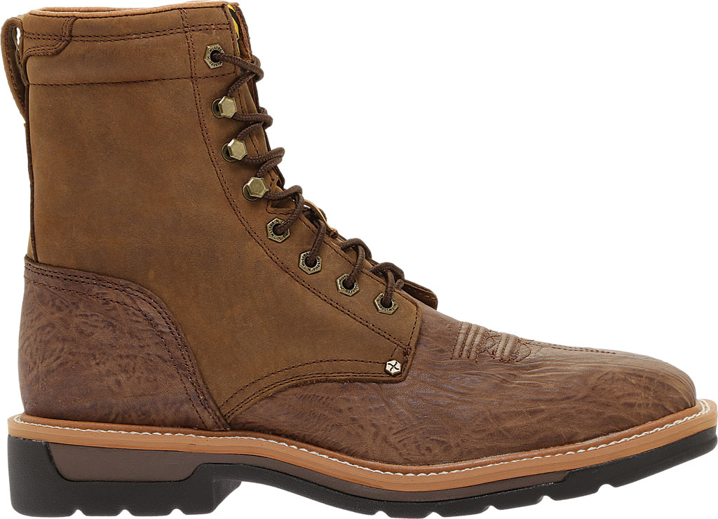 Men's Twisted X MLCSL01 Lite Weight Steel Toe Lace Up Work, Distressed Shoulder/Distressed Leather, large, image 2