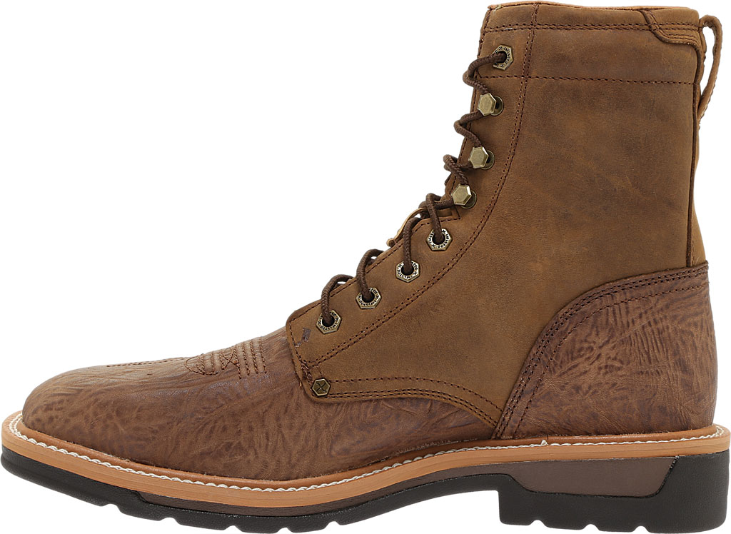 Men's Twisted X MLCSL01 Lite Weight Steel Toe Lace Up Work, Distressed Shoulder/Distressed Leather, large, image 3