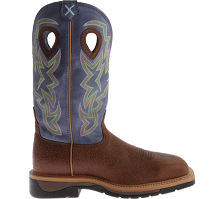 Men's Twisted X MLCS016 Lite Weight Work Boot Safety Toe, Peanut Distressed/Navy Leather, large, image 2