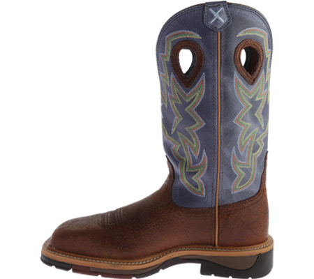 Men's Twisted X MLCS016 Lite Weight Work Boot Safety Toe, Peanut Distressed/Navy Leather, large, image 3
