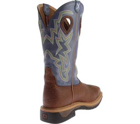 Men's Twisted X MLCS016 Lite Weight Work Boot Safety Toe, Peanut Distressed/Navy Leather, large, image 4