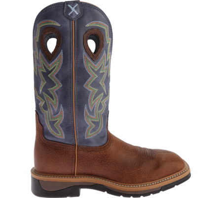 Men's Twisted X MLCW016 Lite Weight Work Boot, Peanut Distressed/Navy Leather, large, image 2