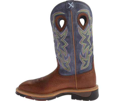 Men's Twisted X MLCW016 Lite Weight Work Boot, Peanut Distressed/Navy Leather, large, image 3