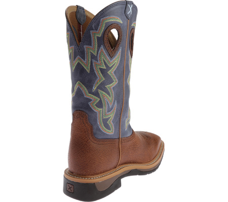 Men's Twisted X MLCW016 Lite Weight Work Boot, Peanut Distressed/Navy Leather, large, image 4