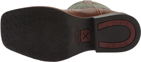 Children's Twisted X YCW0009 Cowkid's Work Boot, Peanut Distressed/TX Camo Leather, large, image 6