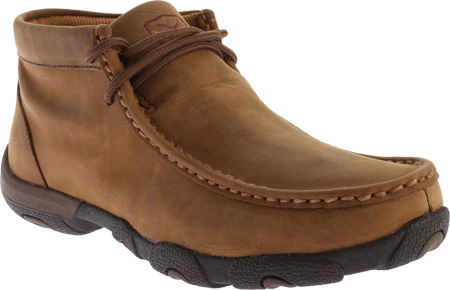 Women's Twisted X WDMW001 Waterproof Tall Driving Moc, Distressed Saddle Leather, large, image 1