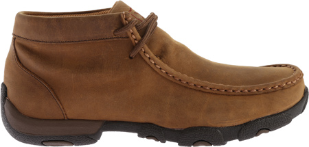 Women's Twisted X WDMW001 Waterproof Tall Driving Moc, Distressed Saddle Leather, large, image 2