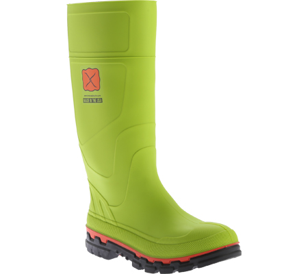 Men's Twisted X MWBS001 Steel Toe Mud Boot, Lime Green Rubber, large, image 1