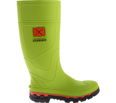 Men's Twisted X MWBS001 Steel Toe Mud Boot, Lime Green Rubber, large, image 2
