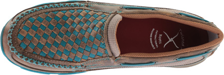 Women's Twisted X WDMS006 Driving Moc, Bomber/Turquoise Leather, large, image 5