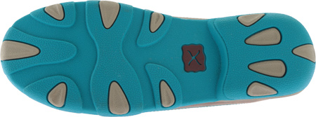 Women's Twisted X WDMS006 Driving Moc, Bomber/Turquoise Leather, large, image 6