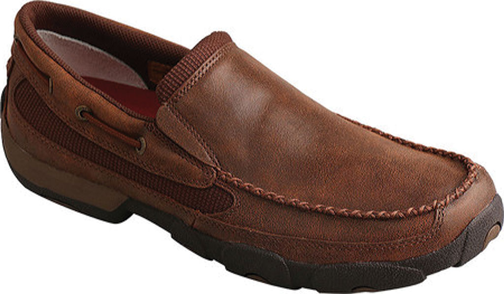 Men's Twisted X MDMS009 Driving Moc, Brown Leather, large, image 1