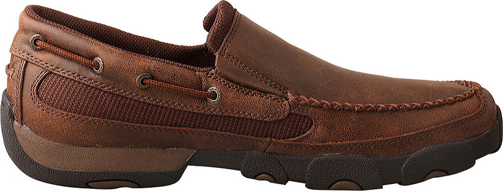 Men's Twisted X MDMS009 Driving Moc, Brown Leather, large, image 2