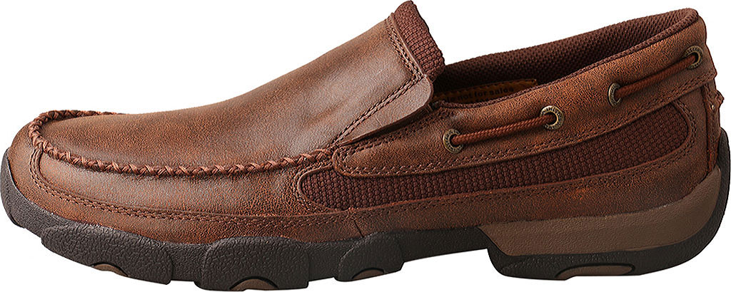 Men's Twisted X MDMS009 Driving Moc, Brown Leather, large, image 3