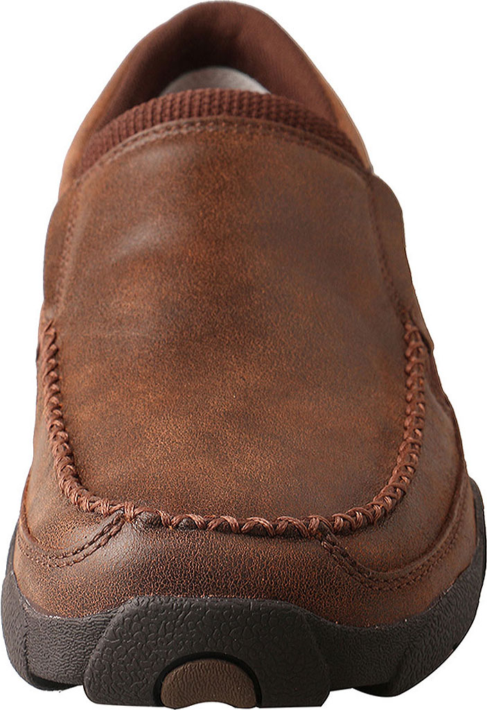 Men's Twisted X MDMS009 Driving Moc, Brown Leather, large, image 4
