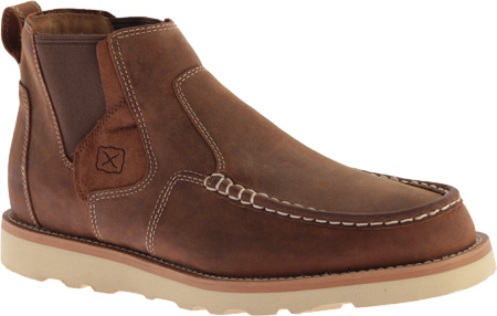 Men's Twisted X MCA0013 Casual Slip On, Oiled Saddle Leather, large, image 1