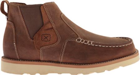 Men's Twisted X MCA0013 Casual Slip On, Oiled Saddle Leather, large, image 2