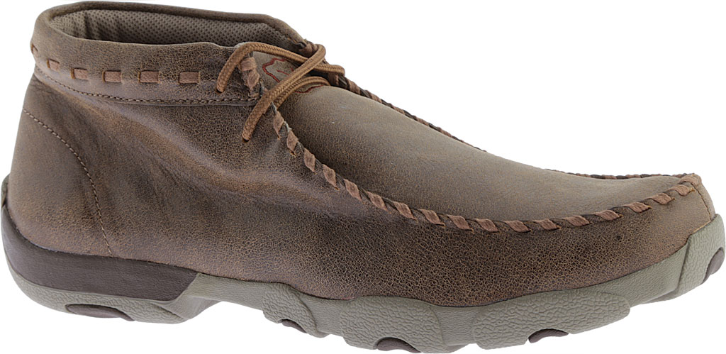 Men's Twisted X MDM0049 Driving Moc, Bomber/Taupe Leather, large, image 1