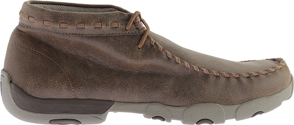 Men's Twisted X MDM0049 Driving Moc, Bomber/Taupe Leather, large, image 2