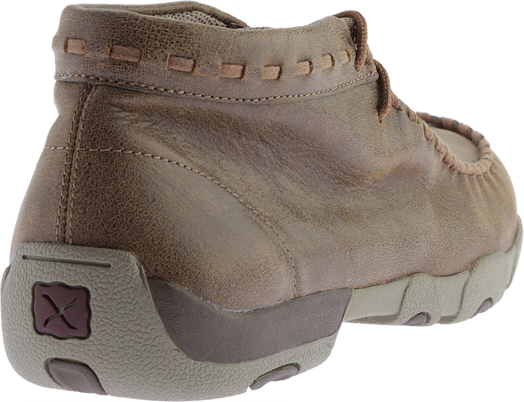 Men's Twisted X MDM0049 Driving Moc, Bomber/Taupe Leather, large, image 4